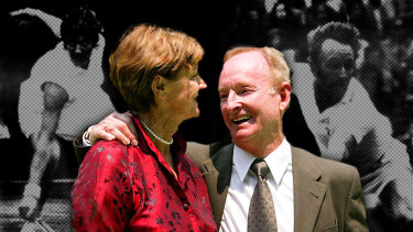 From one GOAT (greatest of all time) to another: Margaret Court and Rod Laver.