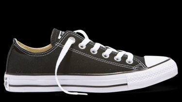 One ACCC employee bought these Converse shoes in black and navy blue, and then in black again, and charged them to the taxpayer.