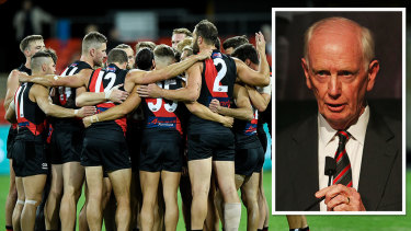 Essendon and president Paul Brasher.