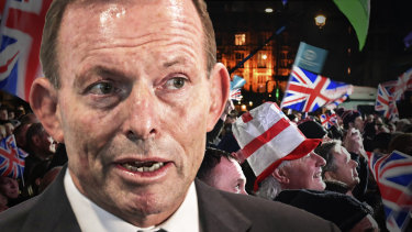 """Former Australian prime minister Tony Abbott was granted an exemption from the Australian government's international travel ban to fly to London where he has accepted a """"role"""" spruiking British trade after Brexit."""