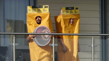England fans have turned up to Australia's World Cup opener dressed as sandpaper, targeting David Warner and Steve Smith.