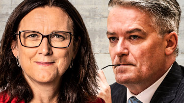 Former European Union trade commissioner Cecilia Malmström, left, and Australia's Mathias Cormann, right, are vying for the post of secretary-general of the OECD.