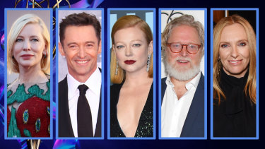 Cate Blanchett, Hugh Jackman, Sarah Snook, Tony McNamara and Toni Collette walk away from the 2020 Emmys empty-handed.