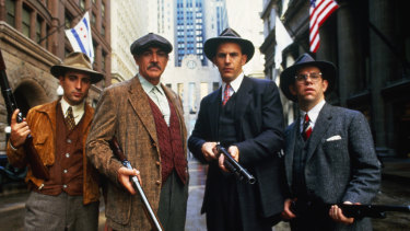 Connery with Andy Garcia, left, Kevin Costner and Charles Martin Smith in The Untouchables.