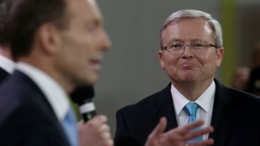 Former prime minister Kevin Rudd has accused Tony Abbott of being a key destructive force in Australian politics.