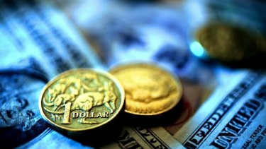 The Australian dollar dropped another third of a US cent on Friday after the RBA cut both inflation and GDP forecasts.