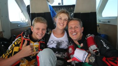 Schumacher with his children Mick and Gina-Maria, in a photo from the documentary <i>Schumacher.