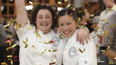 The original <em>MasterChef</em> winner and runner-up Julie Goodwin and Poh Ling Yeow.