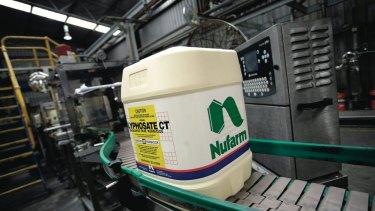 Australia's dry weather has cut demand for Nufarm's products.