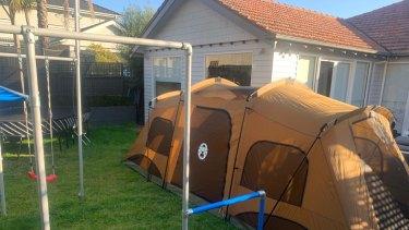 A backyard COVID-19 campout.