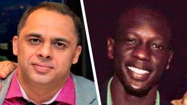 Victims Aaron Khalid Osmani and Richard Arow.