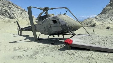 The helicopter destroyed by the White Island eruption  (stuff.co.nz).