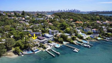 Properties along the waterfront at Loch Maree Place, Vaucluse.