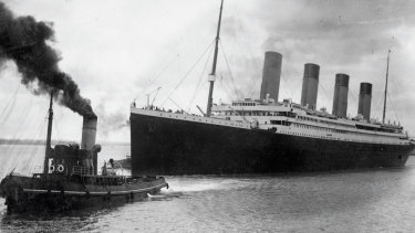 The Titanic leaving England ahead of its ill-fated maiden voyage in 1912.