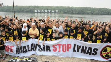 It is the Malaysians near the Lynas plant who have been doing the worrying over the radioactive material stored on site.