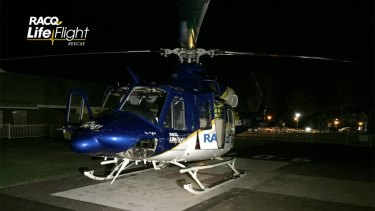 Bundaberg's RACQ LifeFlight Rescue helicopter flew the girl to hospital.