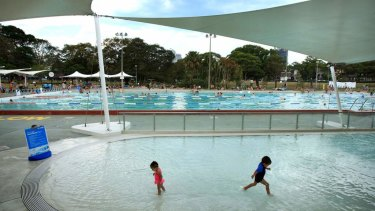 Swimmers have a dip in Victoria Park Pool in Camperdown.
