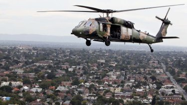 The federal government promised two Black Hawk helicopters to the RFS two years ago.
