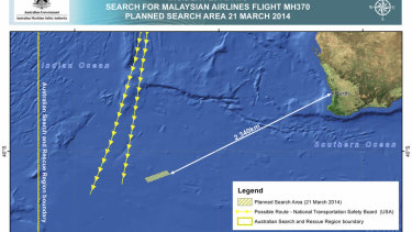 An area in the southern Indian Ocean where the Australian Maritime Safety Authority concentrated its search for MH370.
