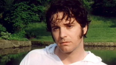 Colin Firth as Mr Darcy in the BBC television adaptation of Pride and Prejudice.