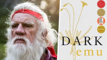 Author Bruce Pascoe and his book Dark Emu.