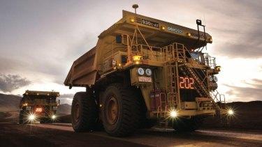 Rio Tinto autonomous haulage trucks.