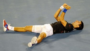 That was then: Djokovic savours the moment in 2012.
