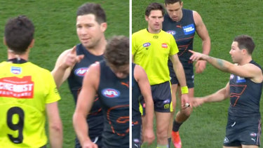 TobyGreene has been suspended for three games for his bump with umpire Matt Stevic during the elimination final.