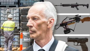 Graham Leslie White spent six months in jail for serious weapons offences.