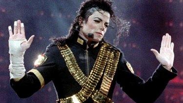 "Michael Jackson performs in Tel Aviv during his global ""Dangerous"" concert tour in 1993."