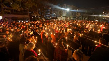 A candlelit vigil saw hundreds turn out in memory of Tracy Connelly.