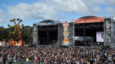 Huge crowds are seen at the Groovin the Moo festival in Canberra, where pill testing will be trialled for a second year.