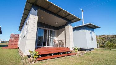 Accommodation facilities at Lake Ainsworth.