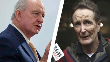 Alan Jones, left, and Paul Barry.