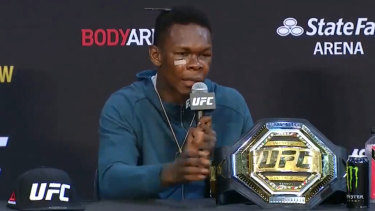 UFC interim middleweight champion Israel Adesanya.