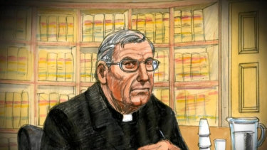 The disgraced cardinal wore his clerical collar to the appeal hearing.