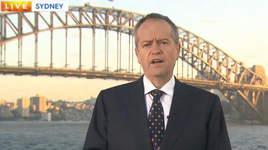Bill Shorten spent his last day of the campaign in Sydney, abandoning plans to head to Queensland due to the death over former prime minister Bob Hawke.