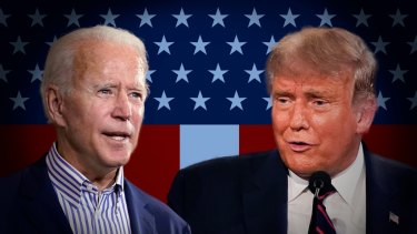 Donald Trump and Joe Biden are facing off in this year's election.