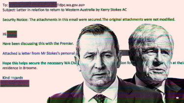 WA Premier Mark McGowan and Kerry Stokes.