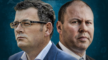 War of words: Daniel Andrews and Josh Frydenberg spar over reopening the Victorian economy.