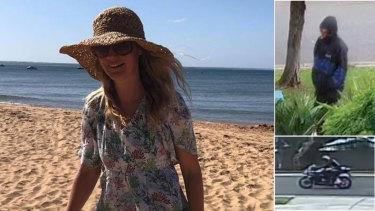 Samantha Fraser, left, and CCTV images released by police.