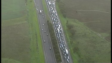Traffic on the Princes Freeway.
