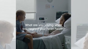 The Heart Foundation's confrontational ad campaign has parents telling their children they don't love them enough to care about their own health.