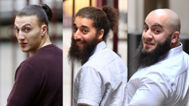 Ahmed Mohamed, Abdullah Chaarani and Hatim Moukhaiber have been found guilty of terrorism after they torched a Melbourne mosque in 2016.