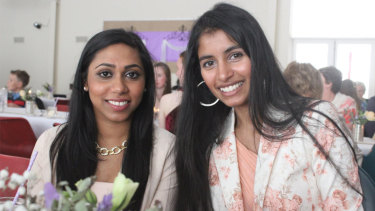 Chathudila Weerasinghe (left) and her friend Ustashia Pillay in 2017.