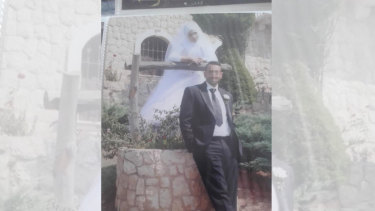 Josline and her husband in Lebanon on their wedding day.
