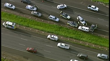 Police intercepted the ute on the Princes Freeway.