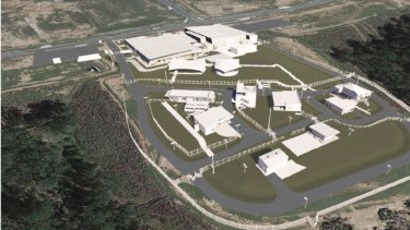 An artist's impression of the new Counter Terrorism and Community Safety Training facility at Wacol.