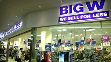 Big W has been discounting aggressively to generate sales.