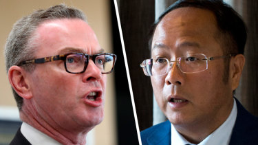 Christopher Pyne and Huang Xiangmo.